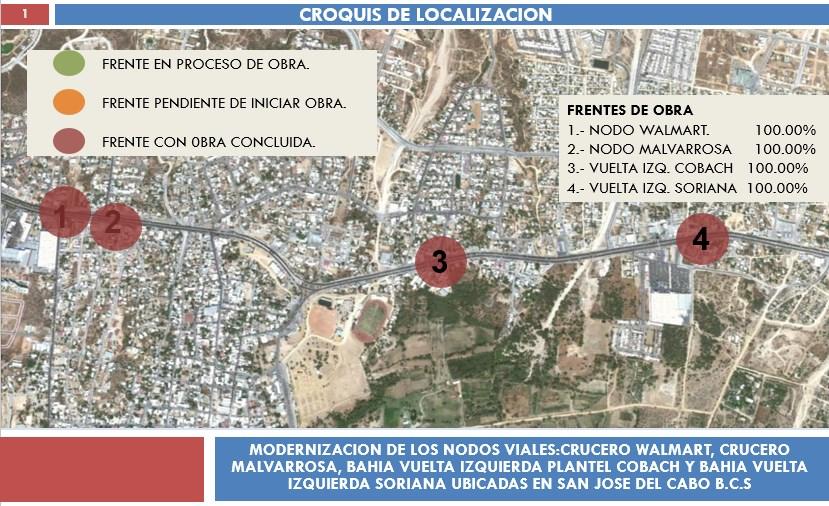 Modernización de los nodos viales ubicados en San José Del Cabo B.C.S