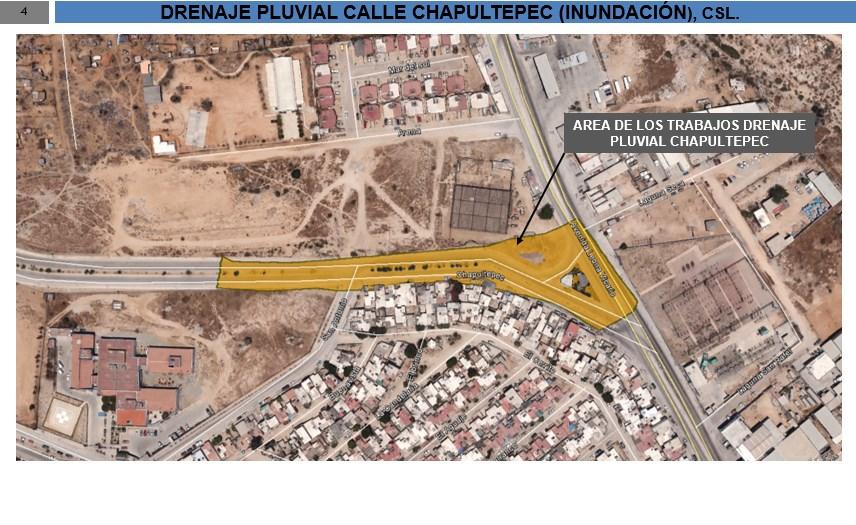 Construcción del Drenaje Pluvial en la Av. Chapultepec en Cabo San Lucas, B.C.S.