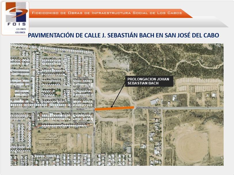 Pavimentación prolongación de la calle Johan Sebastián Bach en SJC